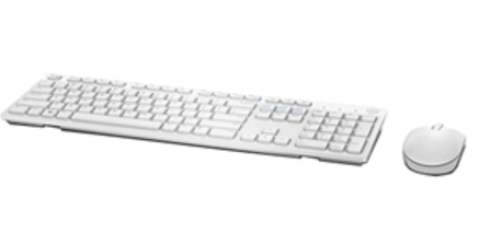 Dell Keyboard and Mouse Wireless-KM636 - WHITE