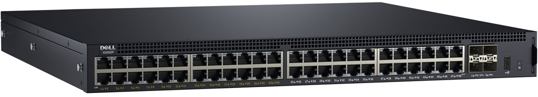 Dell Networking X1052P Smart Web Managed Switch, 48x 1GbE 24x PoE