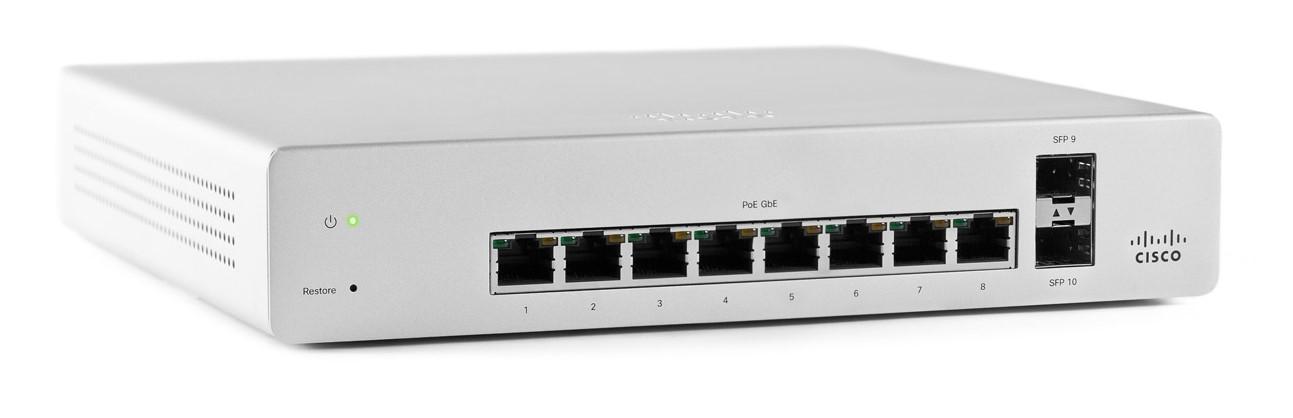 Meraki MS220-8P L2 Cloud Managed 8 Port GigE 124W PoE Switch